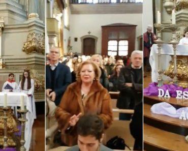 """Grupo Coral e Fiéis Cantam """"Não Sou o Único"""" Na Missa Em Homenagem a Zé Pedro 3"""