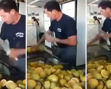 Homem Tem Técnica Impressionante Para Cortar Limões 1