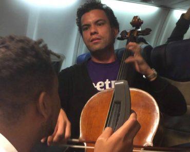 Violoncelista Conhece Beatboxer Num Avião e Fazem Sessão Musical Maravilhosa 8