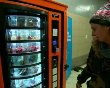 Máquina De Venda Automática Distribui Gratuitamente Bens Essenciais Aos Sem-abrigo 9