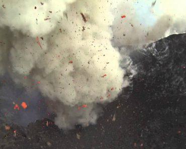 Drone Capta Imagens Impressionantes De Vulcão Em Erupção 5