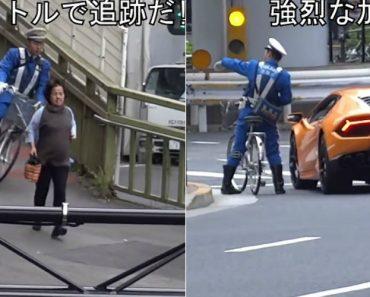 Lamborghini é Perseguido Por Polícia Em Bicicleta 4