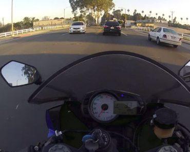 Motociclista Apressado Mostra Porque Não Se Deve Tentar Passar Um Amarelo 6