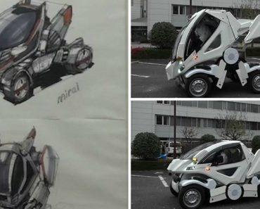 """Japonês Cria Carro """"Dobrável"""" Para Resolver Problema De Estacionamento 5"""