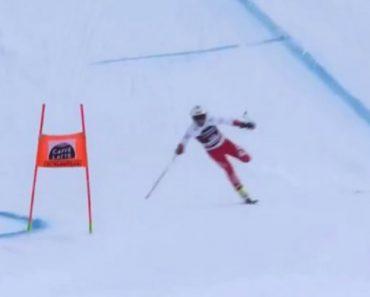 Esquiador Perde Ski No Início Da Competição Mas Mesmo Assim Consegue Terminar a Prova 5