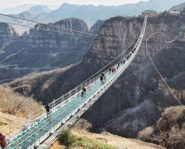Imagens Impressionantes Mostram o Quanto Abana a Maior Ponte De Vidro Do Mundo 8