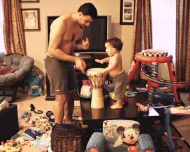 Veja o Que Acontece Quando Um Pai e Seu Filho De 2 Anos Passam Uma Tarde Sozinhos Em Casa 4