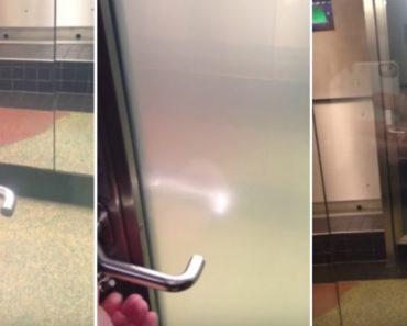 Incrível Porta De Vidro Transparente Fica Automaticamente Opaca Quando é Trancada 4