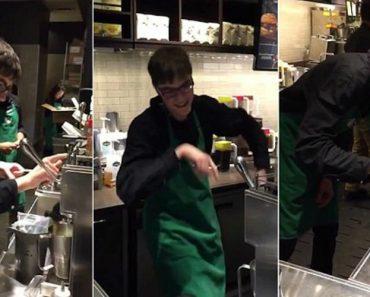 Jovem Autista Contratado Pelo Starbucks Faz Sucesso a Dançar Enquanto Trabalha 5