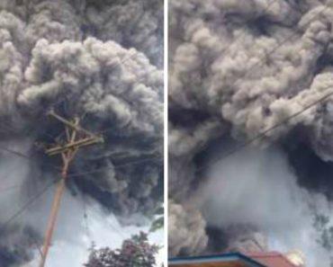 Filmagem Mostra a Poderosa Erupção De Vulcão Na Indonésia 3