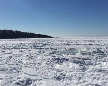 Morador Dos EUA Capta Impressionante Vídeo Mostrando Oceano Atlântico Congelado 9