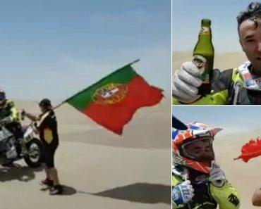 Piloto Português No Dakar Faz Paragem Para Beber Cerveja Com Amigos 5