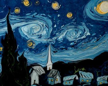Artista Faz Maravilhosas Recriações Das Famosas Pinturas De Van Gogh Na Superfície Da Água 3