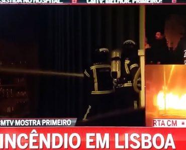 Entrevista Insólita Na CMTV Sobre Um Incêndio Num Armazém Em Lisboa 3