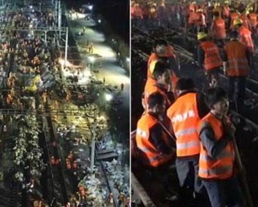 Em Apenas 9 Horas 1500 Trabalhadores Constroem Linha Férrea 8