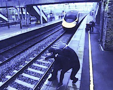 Mulher Corajosa Impede Tragédia Na Linha De Comboio 2