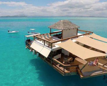 Um Paraíso Flutuante Nas Águas Azul-Turquesa Da Principal Ilha De Fiji 7