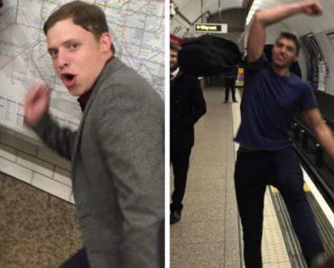 Amigos Criam Hilariante Versão De Ping Pong No Metro De Londres 4