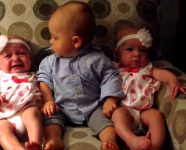 Bebé Fica Confuso Ao Ser Colocado No Meio De Duas Irmãs Gémeas 9