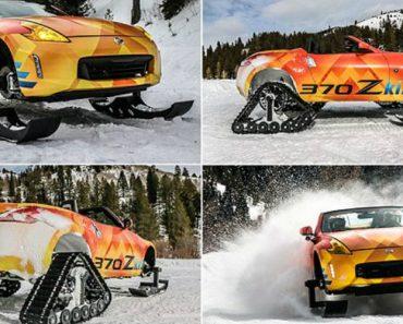 """Nissan 370zki: O Descapotável Transformou-se Em Exuberante """"Moto De Neve"""" 6"""