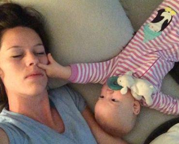 Mãe Mostra os Inconvenientes De Dormir Com Um Bebé Ao Lado 8