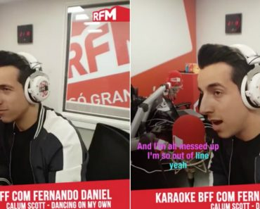 "Fernando Daniel Arrepia a Cantar ""Dancing On My Own"" Na RFM 4"