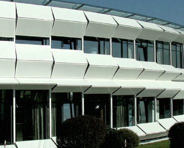 Inteligente Fachada Tecnológica De Edifício Que Se Adapta Às Condições Climatéricas 9
