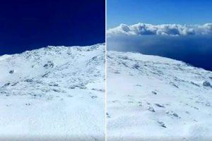 As Imagens Impressionantes Da Neve Que Cobre a Montanha Do Pico Nos Açores 9