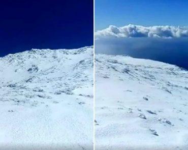As Imagens Impressionantes Da Neve Que Cobre a Montanha Do Pico Nos Açores 4