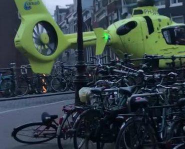 Helicóptero Realiza Aterragem Impressionante No Centro De Amesterdão 8