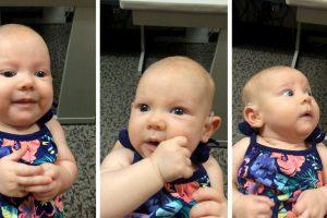 Maravilhoso Momento Em Que Uma Bebé Surda Ouve a Voz Da Mãe Pela Primeira Vez 35