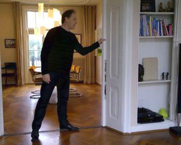 Homem Tem Ideia Fantástica Ao Colocar Televisão Em Porta Deslizante Para Otimizar o Espaço 9