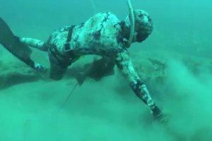 Vídeo Mostra Mergulhador a Capturar Garoupa Vermelha e Enorme Lagosta 10
