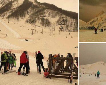 Fenómeno De Neve Alaranjada Surpreendeu A Europa De Leste 3