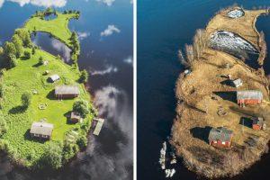 A Beleza Das 4 Estações Numa Pequena Ilha Da Finlândia 10