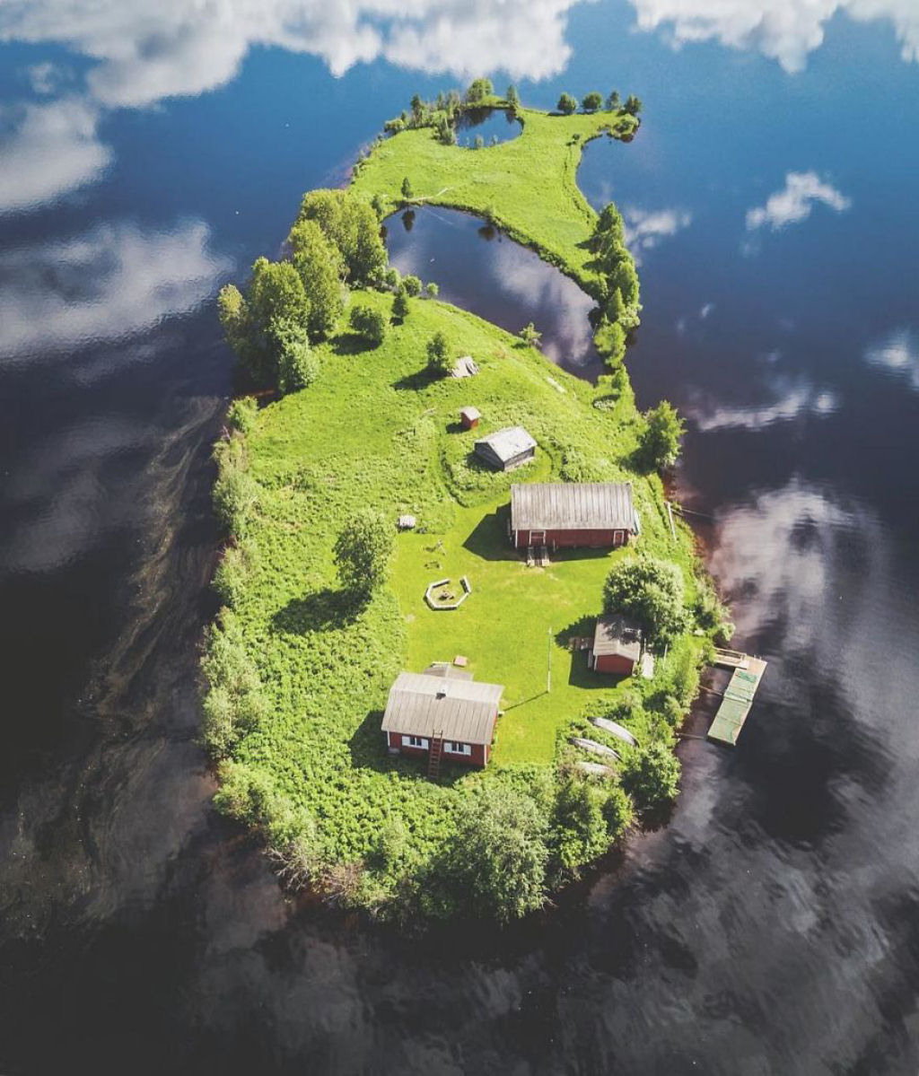 A Beleza Das 4 Estações Numa Pequena Ilha Da Finlândia 1