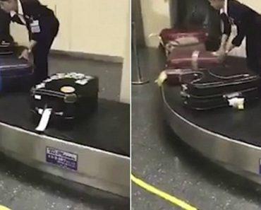 Cuidadosa Funcionária De Aeroporto Japonês Limpa Cada Uma Das Malas Antes De Serem Entregues Aos Passageiros 5