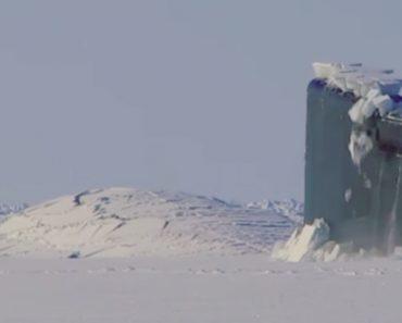 Vídeo Revela Como Submarino Surge à Superfície Após Perfurar Espessa Camada De Gelo Do Ártico 8