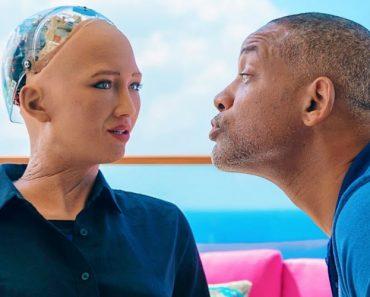 Will Smith Tenta Beijar Robô Sophia Num Encontro Amoroso 3