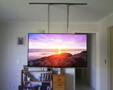 Homem Cria o Seu Próprio Sistema Elevatório Para Ocultar Televisão No Teto 7