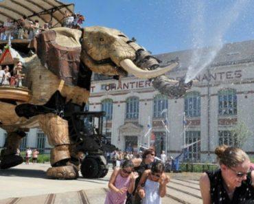 Elefante Mecânico De 12 Metros é Atração Turística Em França 3