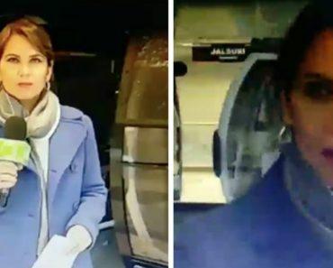 Jornalista Protagoniza Momento Cómico Durante Reportagem Em Direto Sobre Teleférico 2