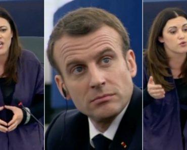 Eurodeputada Portuguesa Encosta Macron à Parede No Parlamento Europeu 4