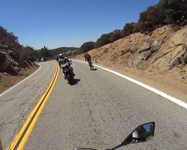 Ciclista Veloz Surpreende Motociclistas Ao Ultrapassá-los 1