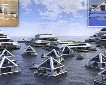 Conheça a Cidade Futurista Flutuante Feita De Pirâmides 7