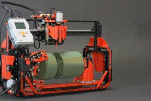 Uma Fresadora 3D Feita Completamente Com Peças De LEGO 10