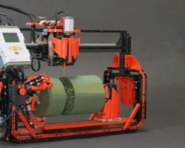 Uma Fresadora 3D Feita Completamente Com Peças De LEGO 9