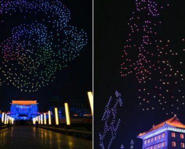 1,3 Mil Drones Dançaram Nos Céus Da China Em Novo Recorde Do Guinness 2