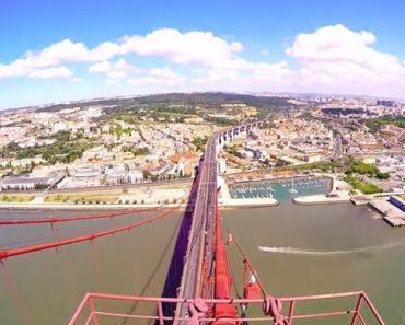 Jovem Capta Maravilhosas Imagens Ao Escalar a Ponte 25 De Abril 7