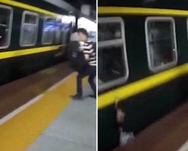 Policia Salva Menina De 2 Anos Que Caiu Na Plataforma De Uma Estação De Comboios 7